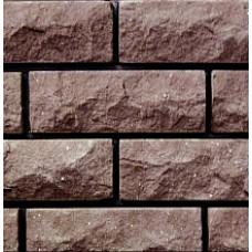 кирпич силикатный облицовочный полуторный рустированный угловой 225х95х88, темно-коричневый