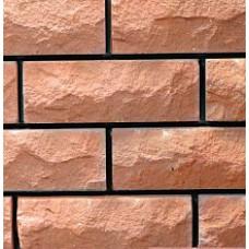 кирпич силикатный облицовочный полуторный рустироованный ложок/тычок 250х95х88/225х120х88, оранжевый