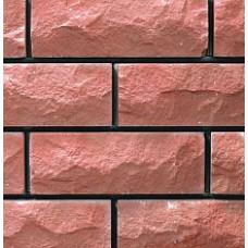 кирпич силикатный облицовочный одинарный рустированый ложок/тычок 250х95х65/225х120х65, розовый