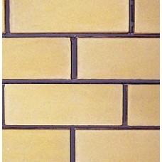 кирпич силикатный облицовочный одинарный гладкий 250х120х65, жёлтый
