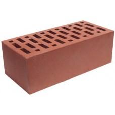 Кирпич керамический облицовочный полуторный щелевой, М-150, красный