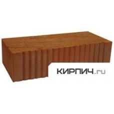 Кирпич керамический строительный одинарный полнотелый рифлёный пластического формования М-125, 250х120х65