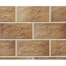Клинкерная крупноформатная фасадная плитка Stroeher KERABIG, KS 14 braun-bunt