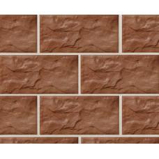 Клинкерная крупноформатная фасадная плитка Stroeher KERABIG, KS 13 tabakbraun